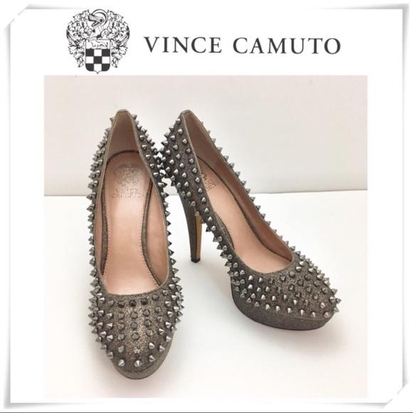 e82358bfdd0 Vincent Camuto Madelyn Studded Bronze Pumps   Heel.  M 5b8b47e942aa76e2eadbb27c